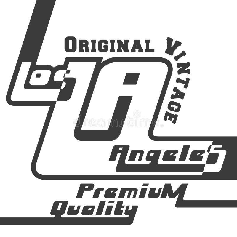 Печать Лос-Анджелес футболки иллюстрация штока