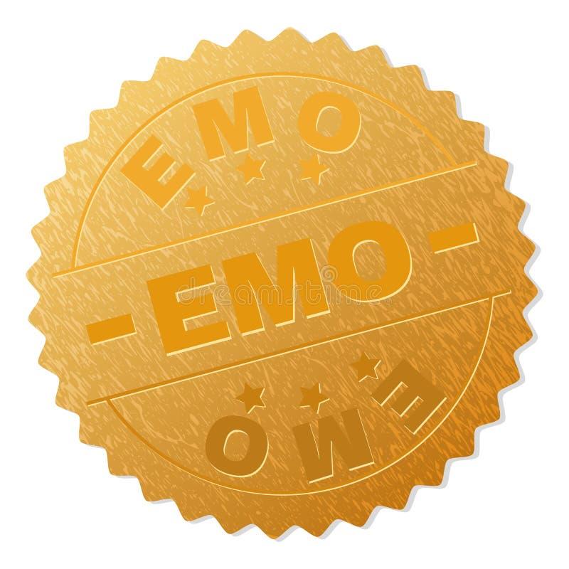 Печать награды золота EMO иллюстрация вектора