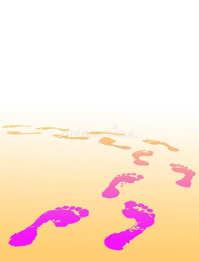 Печать ноги выбирает ваше будущее иллюстрация вектора