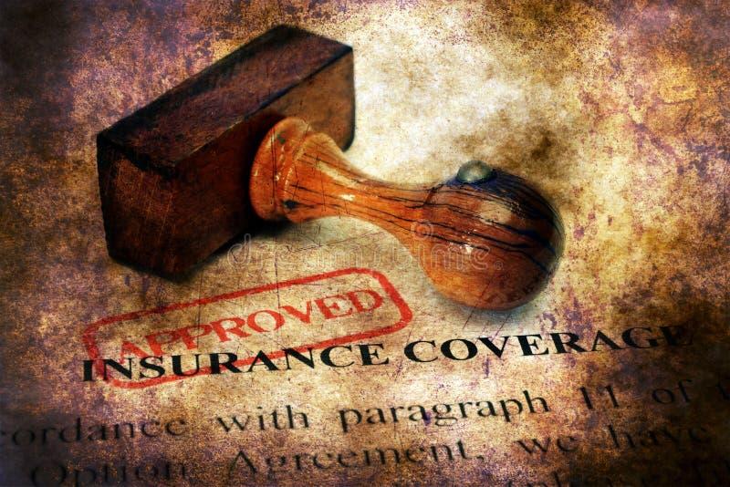 Печать одобренная на концепции страхового платежа стоковые изображения