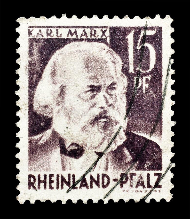 Печать почтового сбора напечатанная Германией стоковое изображение rf