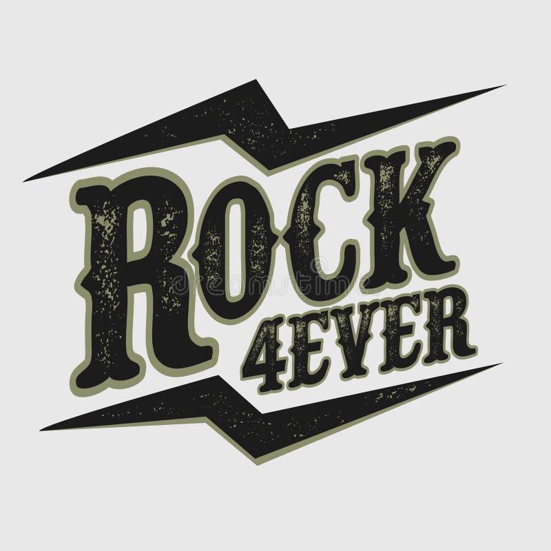 Печать рок-музыки иллюстрация вектора
