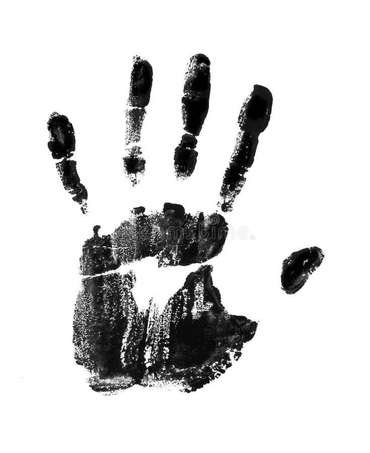 печать руки иллюстрация штока