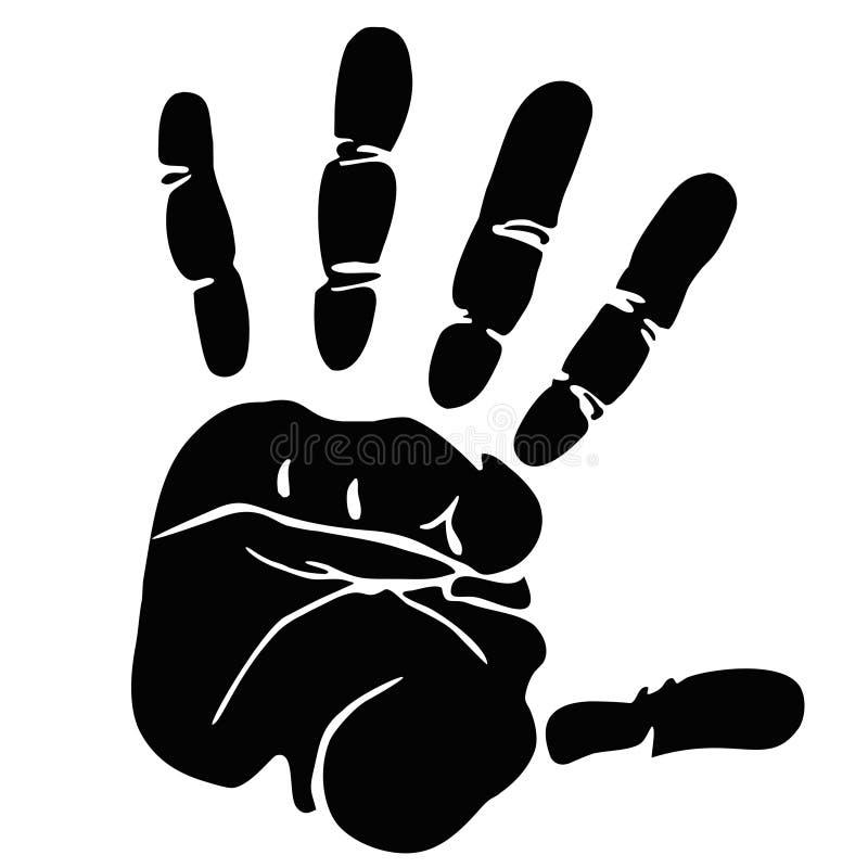 Печать руки бесплатная иллюстрация