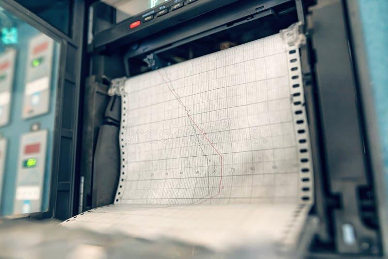 Печать схемы термообработки двух процессов с помощью автоматического регистратора стоковые фотографии rf