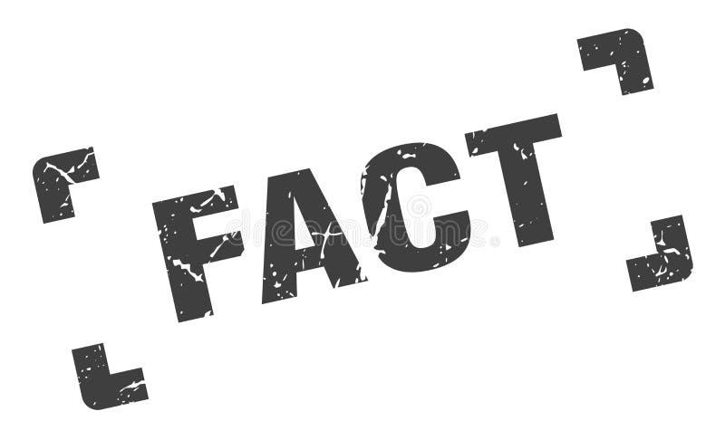 печать факта иллюстрация вектора