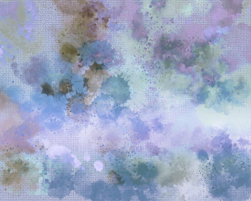 Печать холста Пятно акрилов Творческой абстрактной предпосылка покрашенная рукой Акриловые крася ходы на холсте искусство самомод иллюстрация вектора