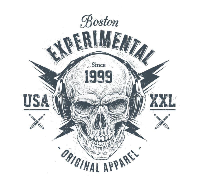 Печать черепа Grunge бесплатная иллюстрация