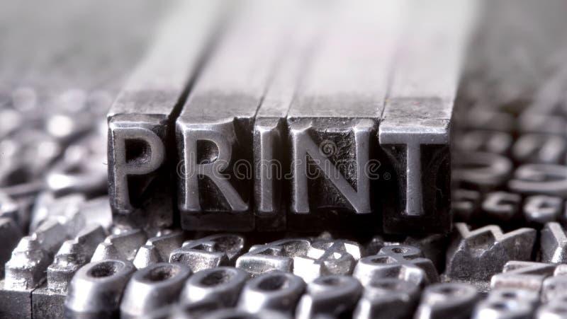 печать стоковая фотография