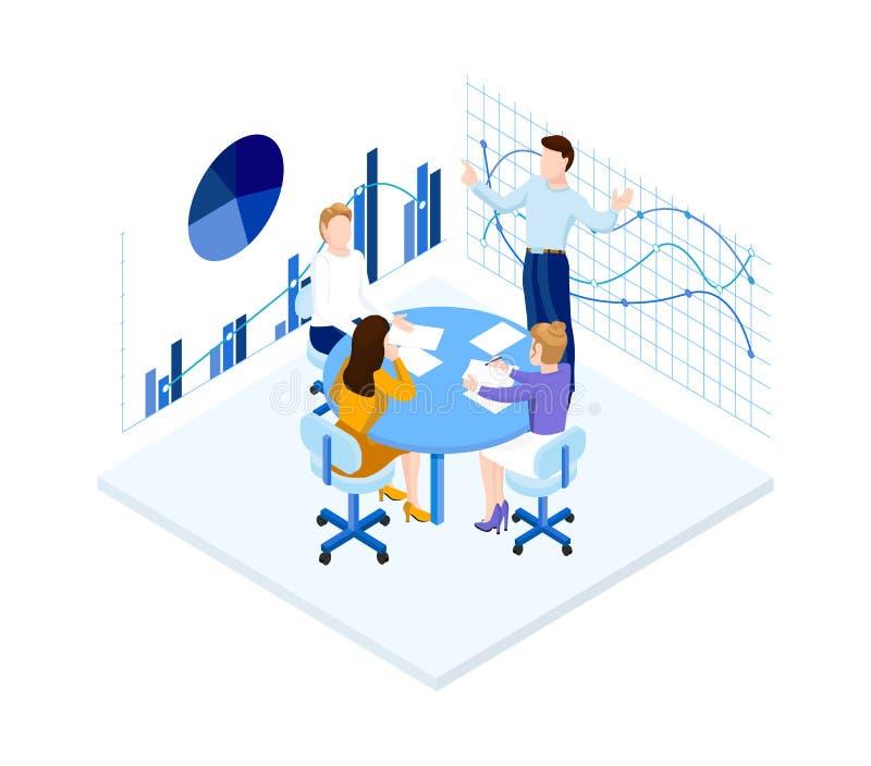 Isometric office team. royalty free illustration