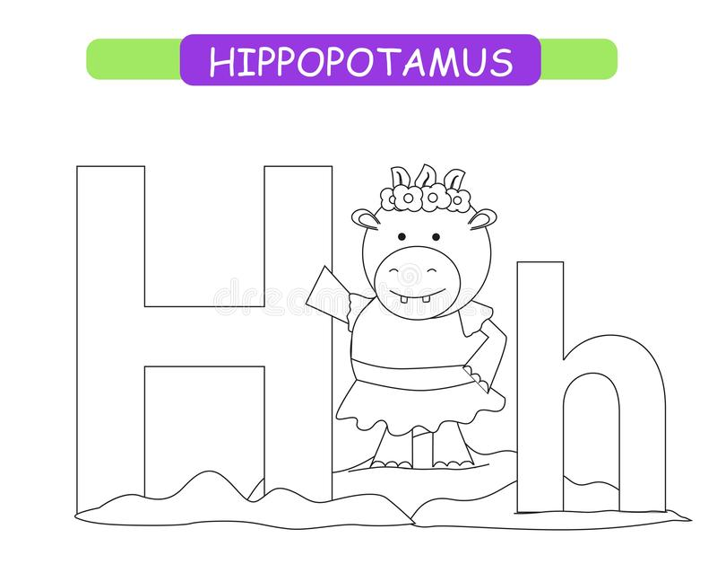Hippopotamus Coloring Stock Illustrations – 632 Hippopotamus ... | 638x800
