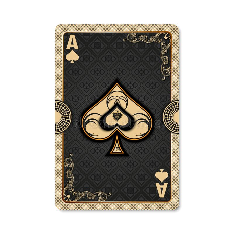 Ace of spades. royalty free stock photo