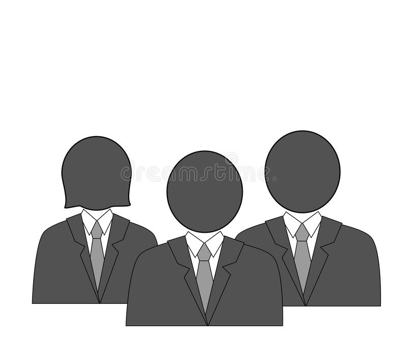 Business team. people in business clothes. icons vector illustration. royalty free illustration