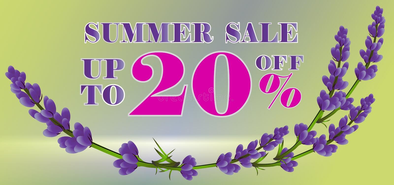 Summer sale banner template. Vector illustration. royalty free illustration