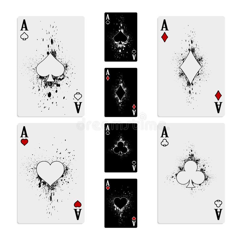 Set of four aces royalty free stock photography