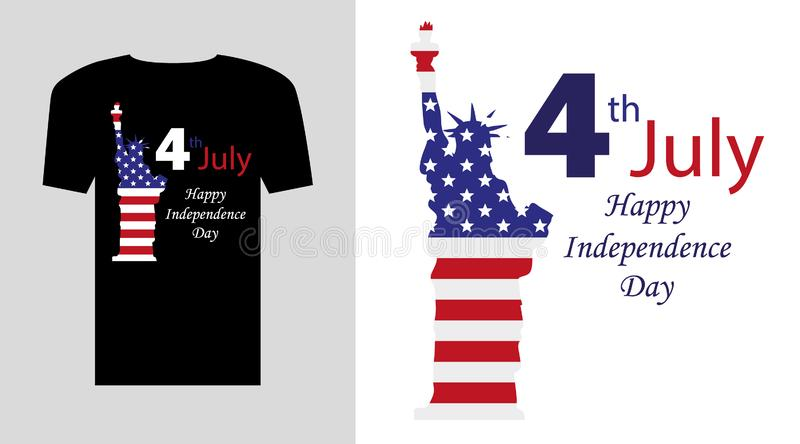 Happy Independence Day design. royalty free illustration