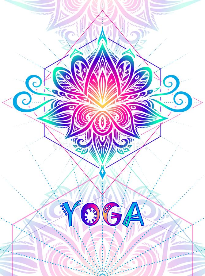 Template flyer or banner or visit Card for yoga classes vector illustration