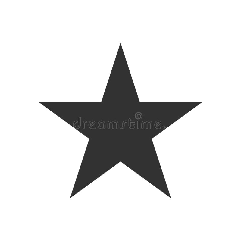Simple star icon isolated on the white background stock illustration