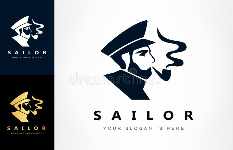 Sailor, Ship captain logo vector. Logo design vector illustration. vector illustration