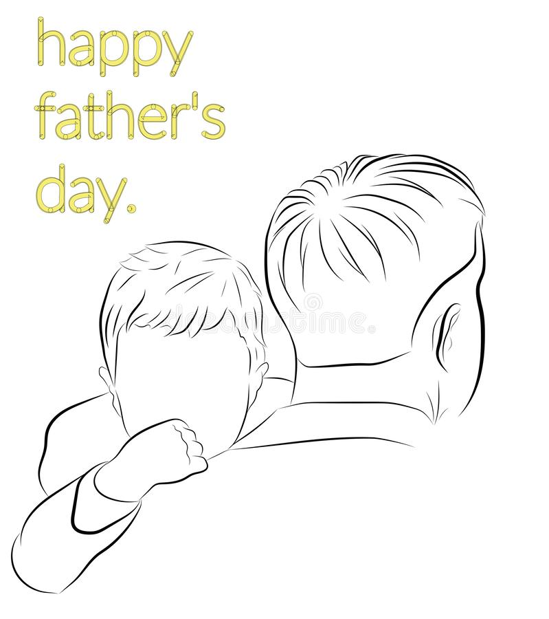 Happy father`s day. vector illustration. stock photography