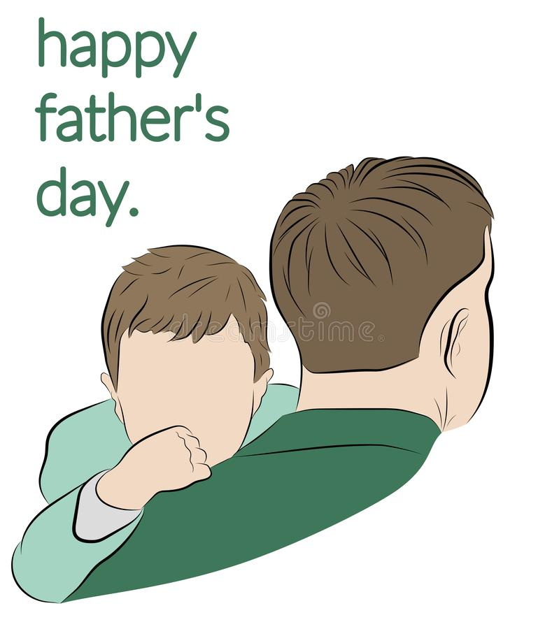 Happy father`s day. vector illustration. royalty free stock photos