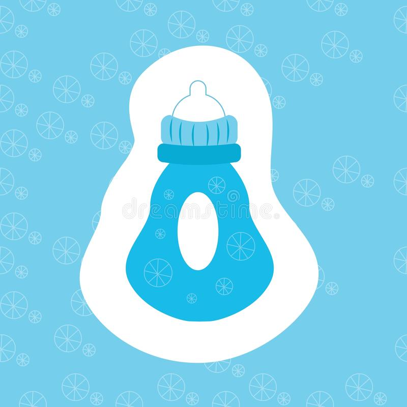 Baby bottle icon. Flat symbol design vector illustration of child bottle. Cute icon for web. Baby bottle icon. Flat symbol design vector illustration of child stock illustration