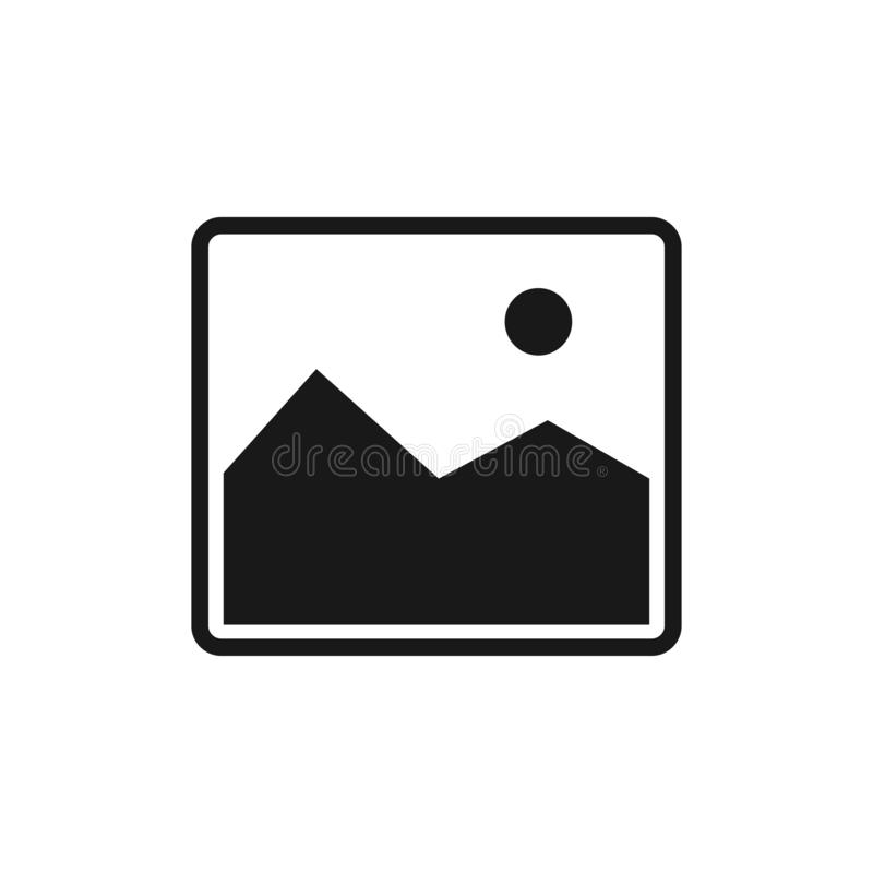 Picture icon isolated on the white background royalty free illustration