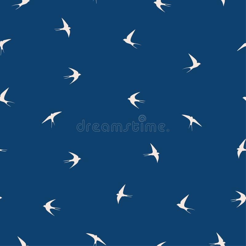 Swallow bird pattern royalty free illustration