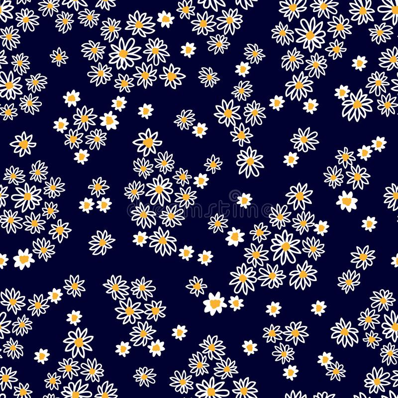 Seamless vector print with small flowers. royalty free stock photo