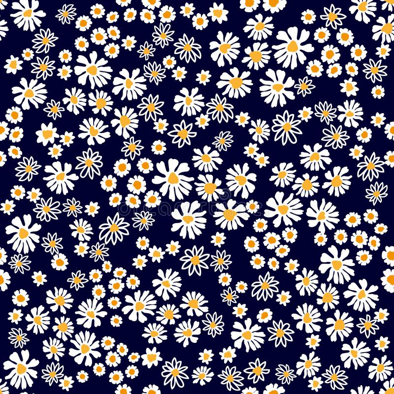 Seamless vector print with small flowers. stock photography