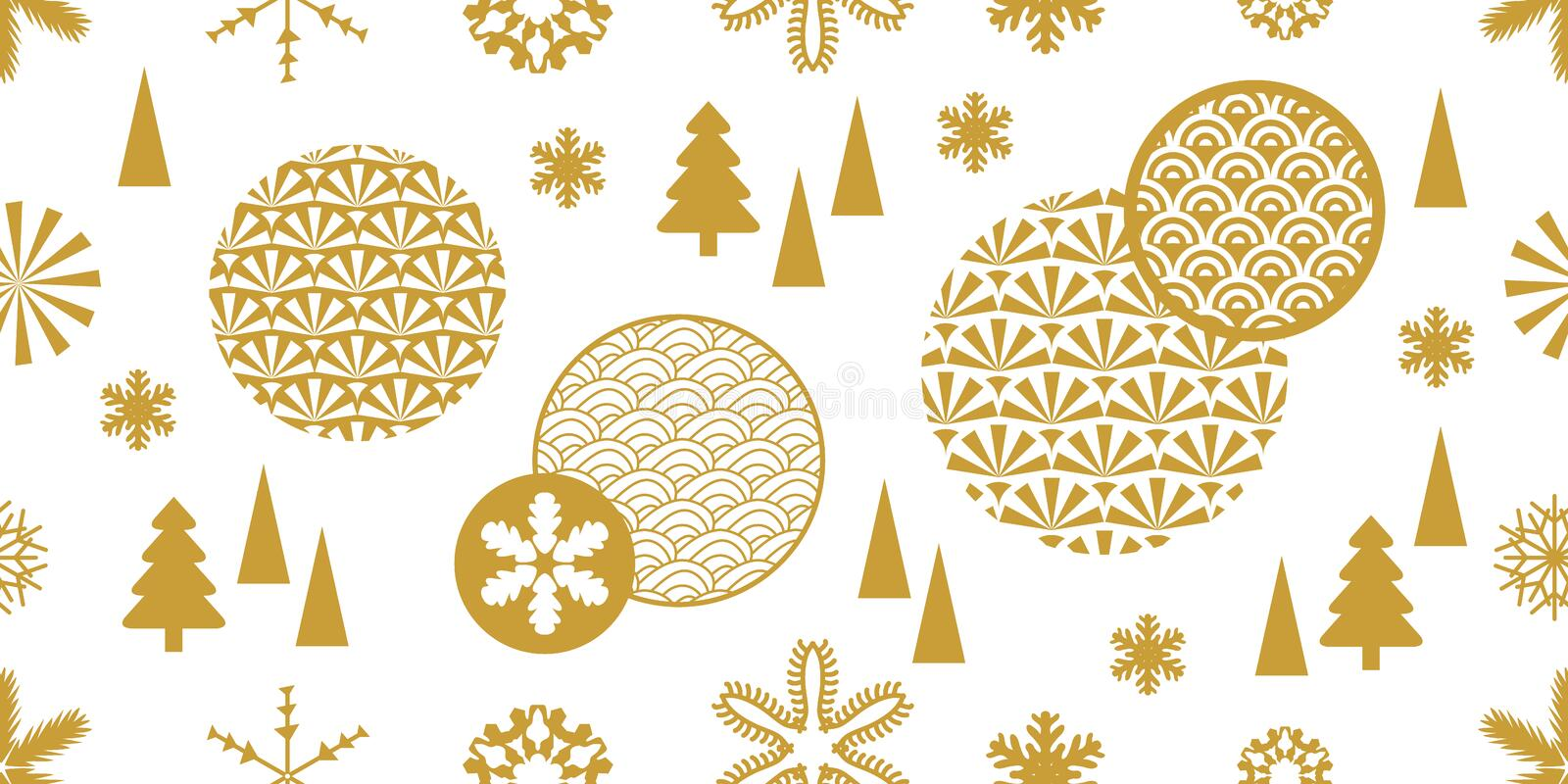 Abstract Xmas and New Year Pattern. royalty free stock photo