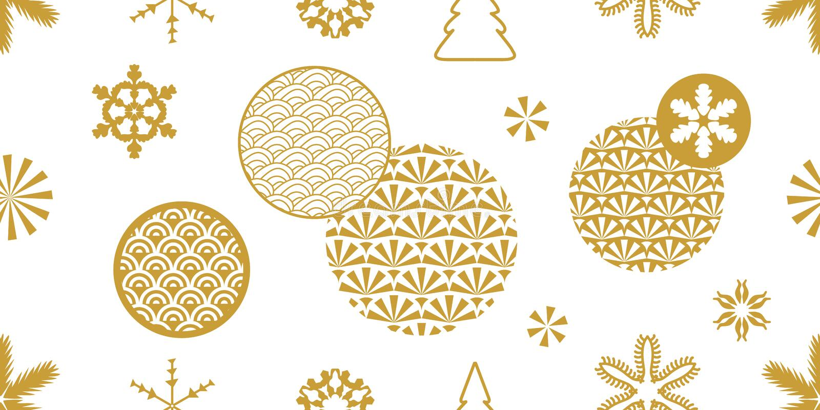 Seamless vector background with ornate circles. royalty free stock photography