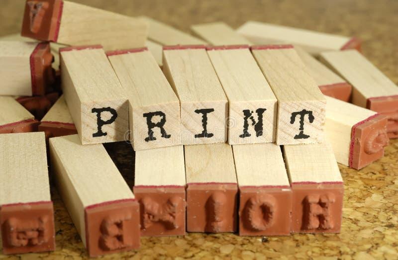 печать стоковая фотография rf