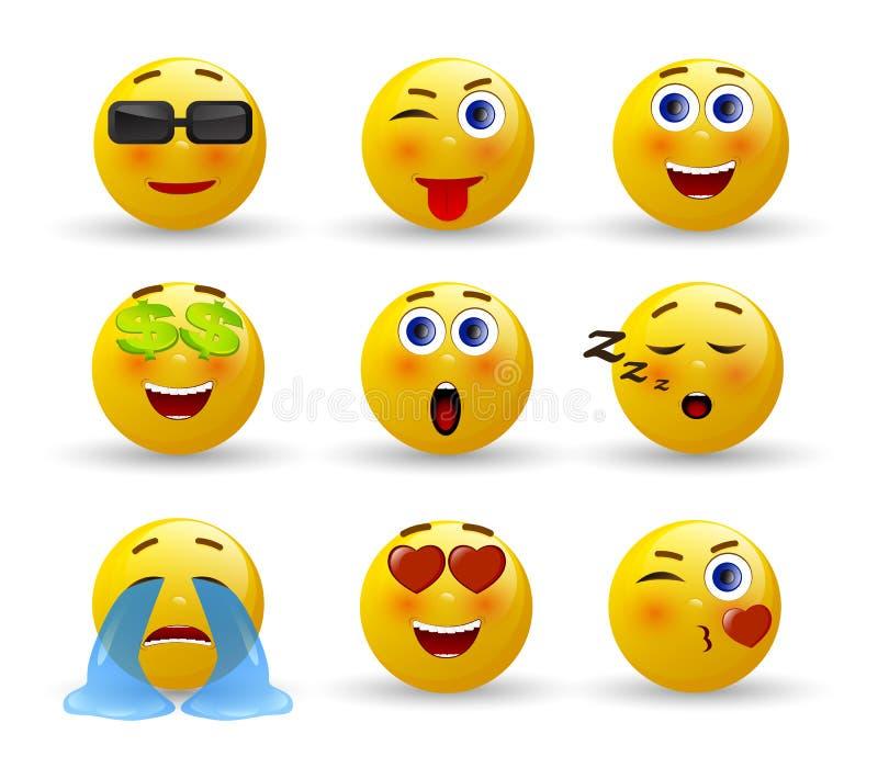 Set of Emoticons. Set of Emoji. stock illustration