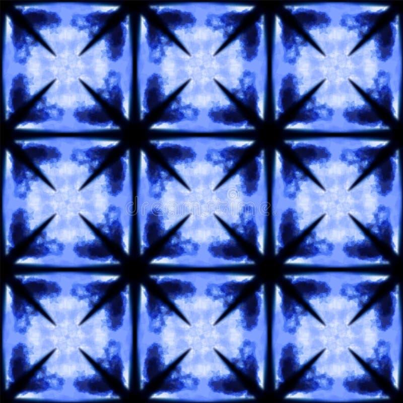 Печать shibori краски связи акварели вектора иллюстрация штока