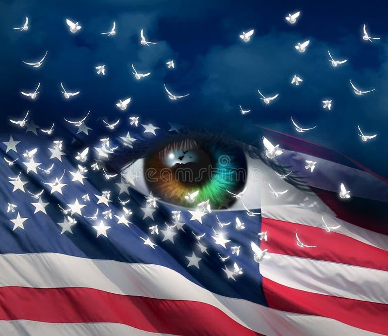 Печаль в Америке иллюстрация штока
