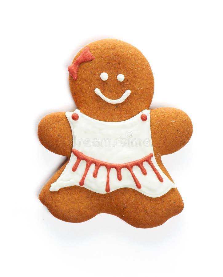 Печенье девушки пряника рождества стоковое изображение rf
