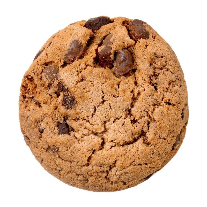 Печенье обломока шоколада с частями шоколада изолированными на белой предпосылке o стоковое фото rf