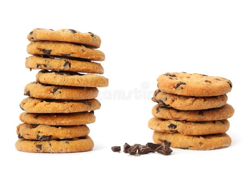 Печенье обломока шоколада стоковое фото rf