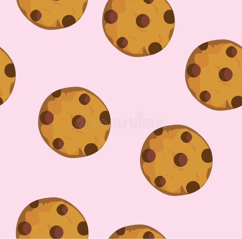 Печенье обломока шоколада вектора иллюстрация вектора
