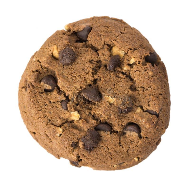 Печенье обломока шоколада на белой предпосылке стоковая фотография rf