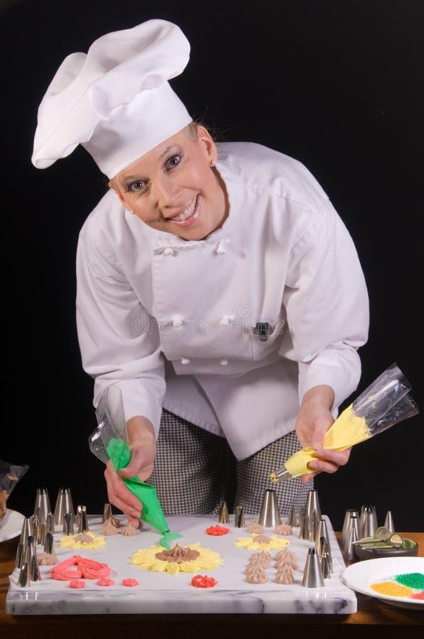 печенье пасхи шеф-повара стоковое изображение rf
