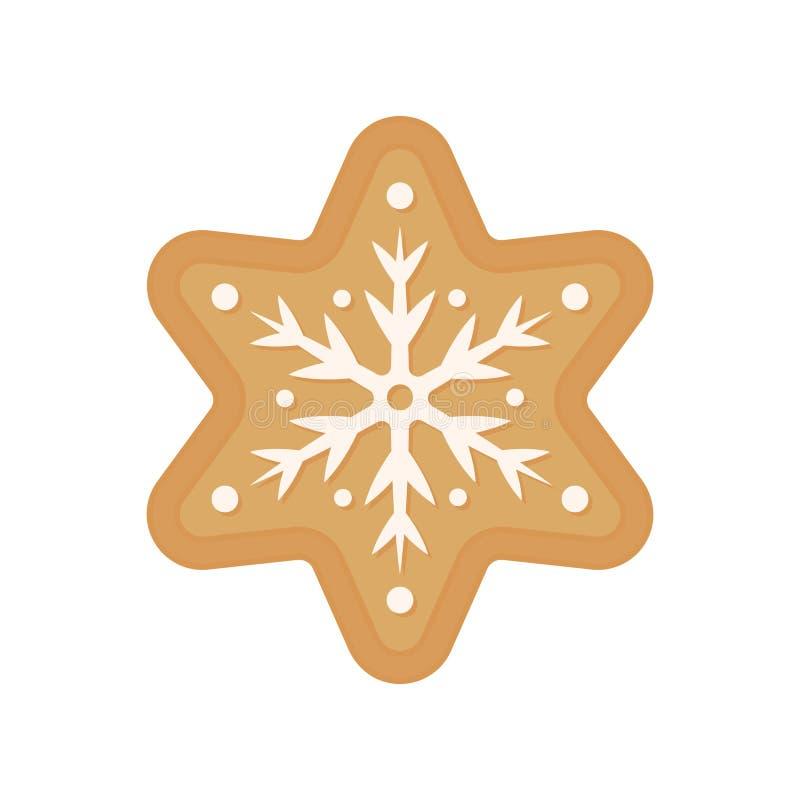 Печенье рождества - вектор Печенье пряника звезда Изолированное печенье снежинки бесплатная иллюстрация