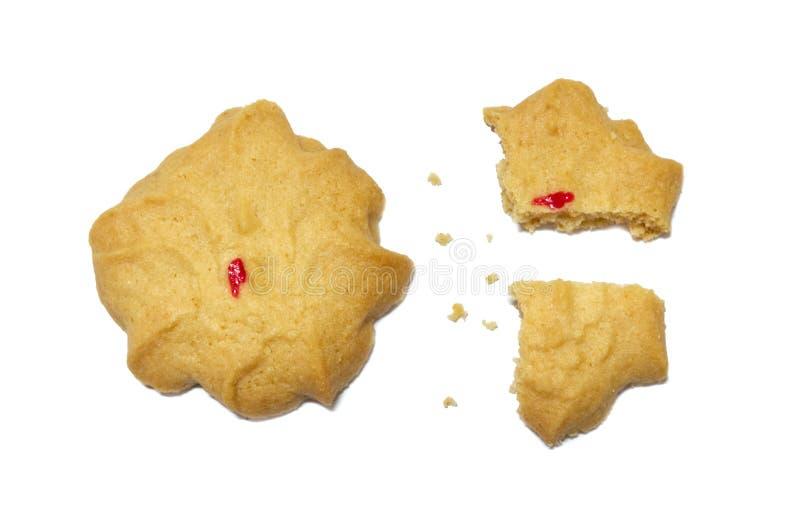 Печенье с приправленными молоком, маслом и медом Сломленное хрустящей очень вкусной сладкой еды и полезного печенья стоковая фотография