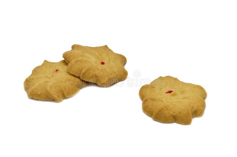 Печенье с приправленными молоком, маслом и медом Стог хрустящей очень вкусной сладкой еды и полезного печенья стоковое фото