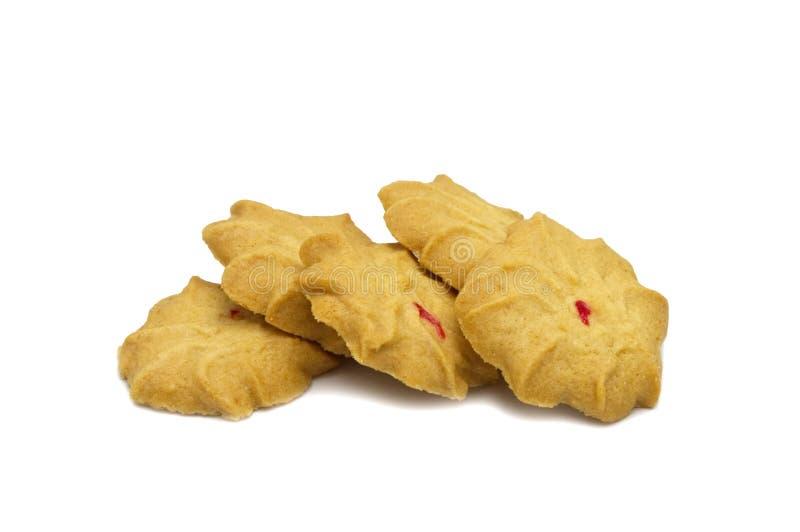 Печенье с приправленными молоком, маслом и медом Стог хрустящей очень вкусной сладкой еды и полезного печенья стоковая фотография rf