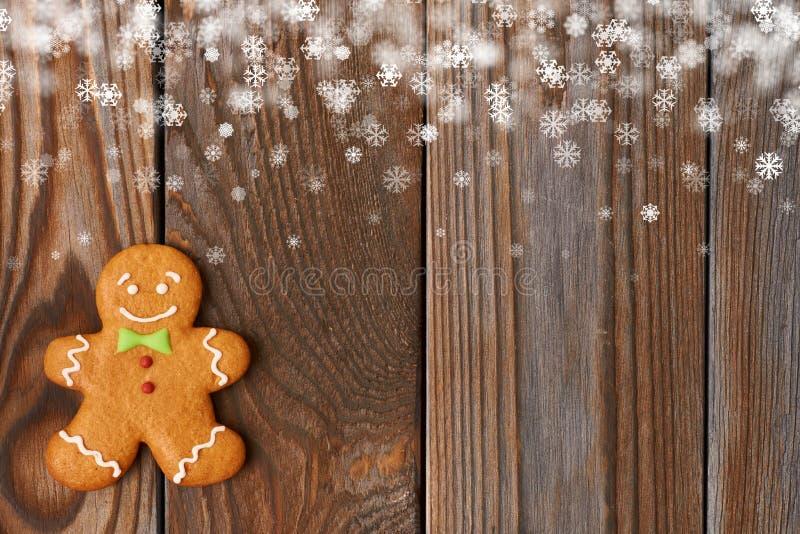 Печенье человека gingerbread рождества домодельное стоковые фотографии rf