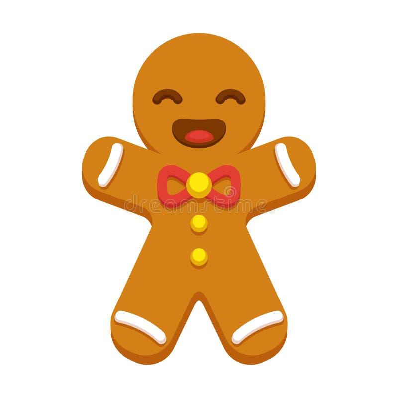 Печенье человека Gingerbread иллюстрация вектора