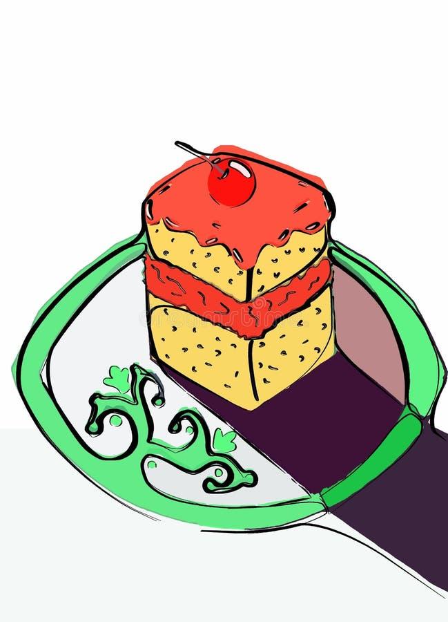 печенье иллюстрация вектора