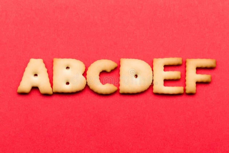 Печенье ABCDE стоковые фото